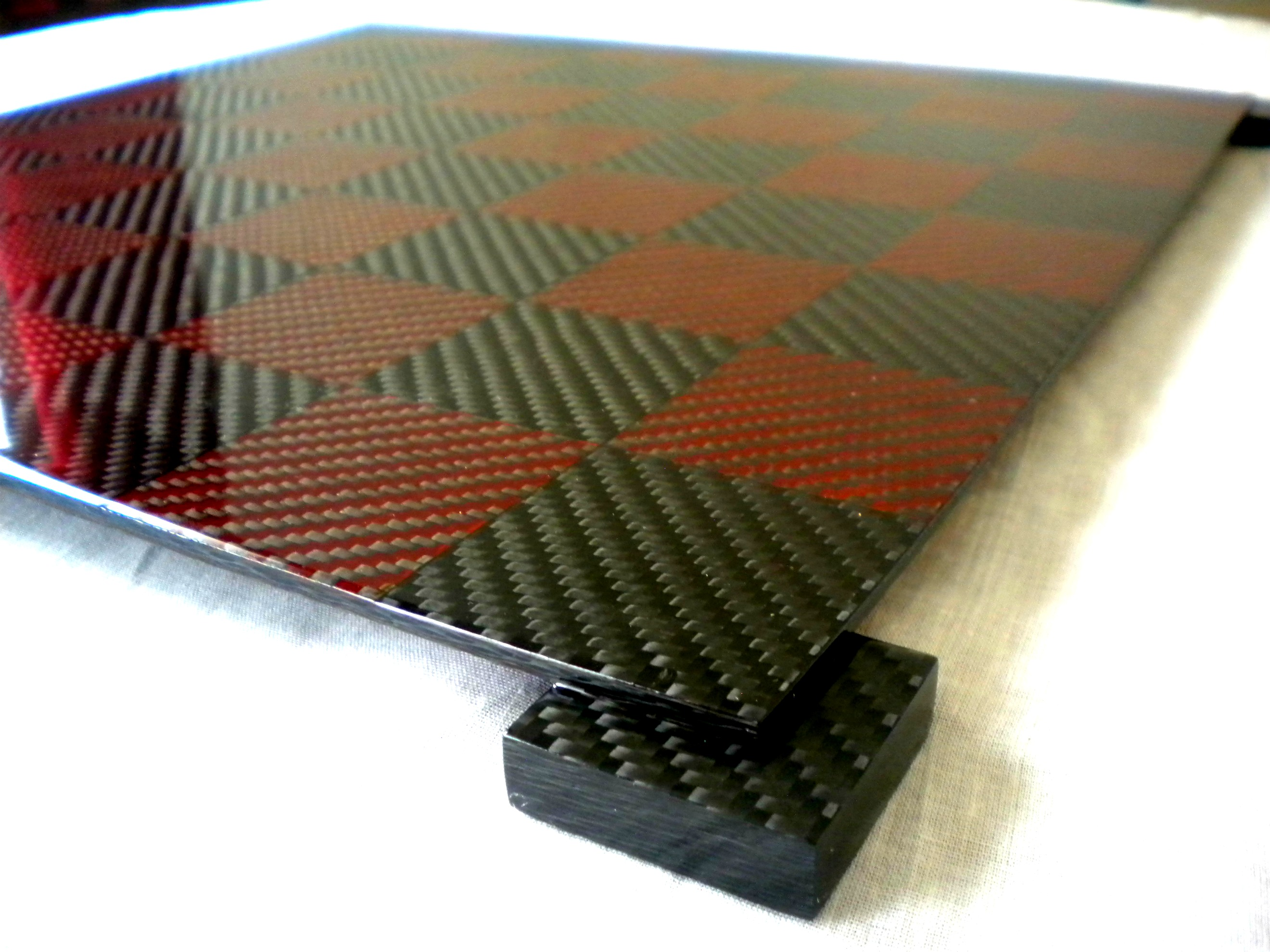 hand made carbon fiber chess board chess forums. Black Bedroom Furniture Sets. Home Design Ideas