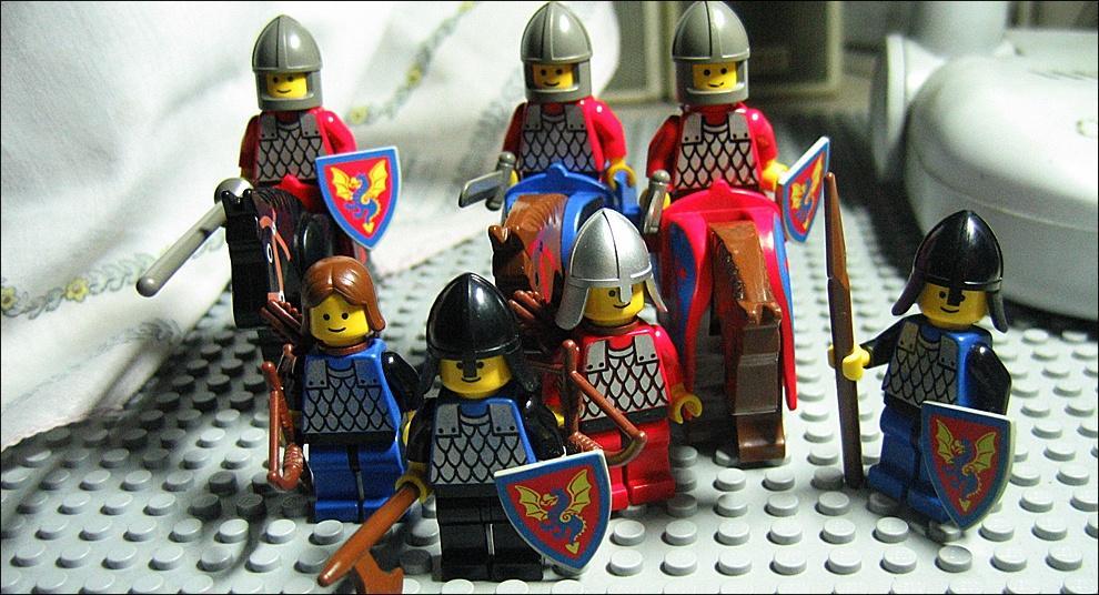 Как сделать лего рыцари