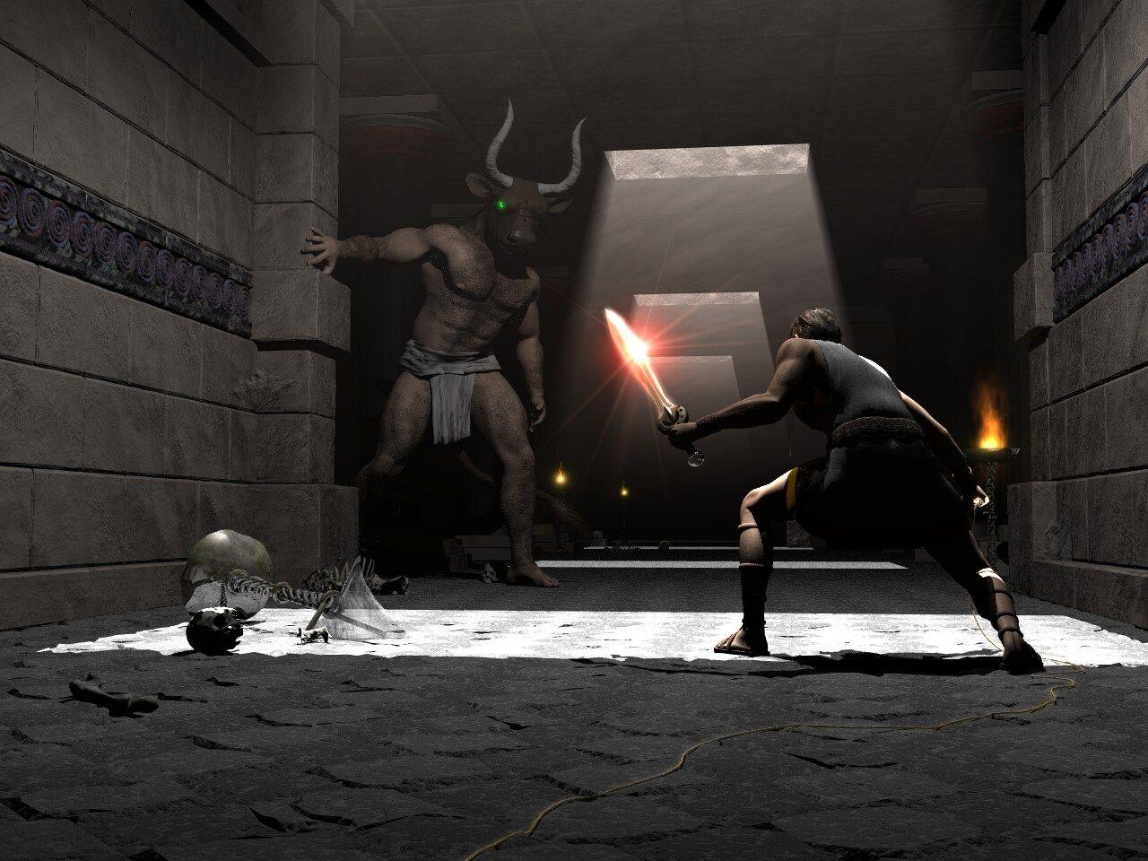 Minotaur xxx games naked scene
