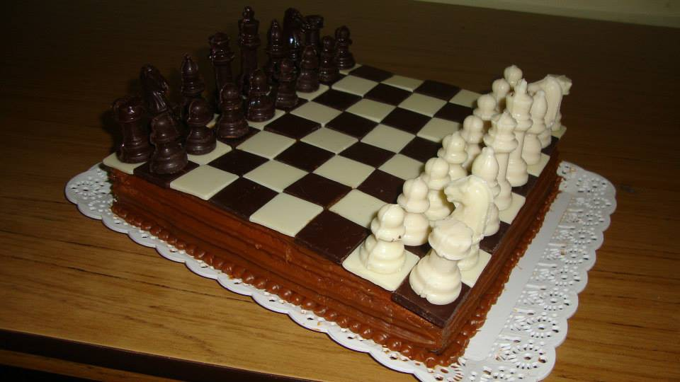 Chocolate chess cake for my birthday