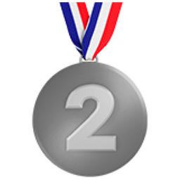 Image result for silver medal emoji