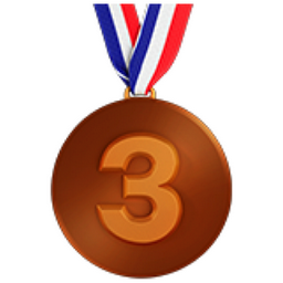 Image result for bronze medal emoji
