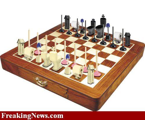 Bathroom Chess Board