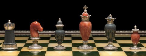 Fabergé chess set from 1905