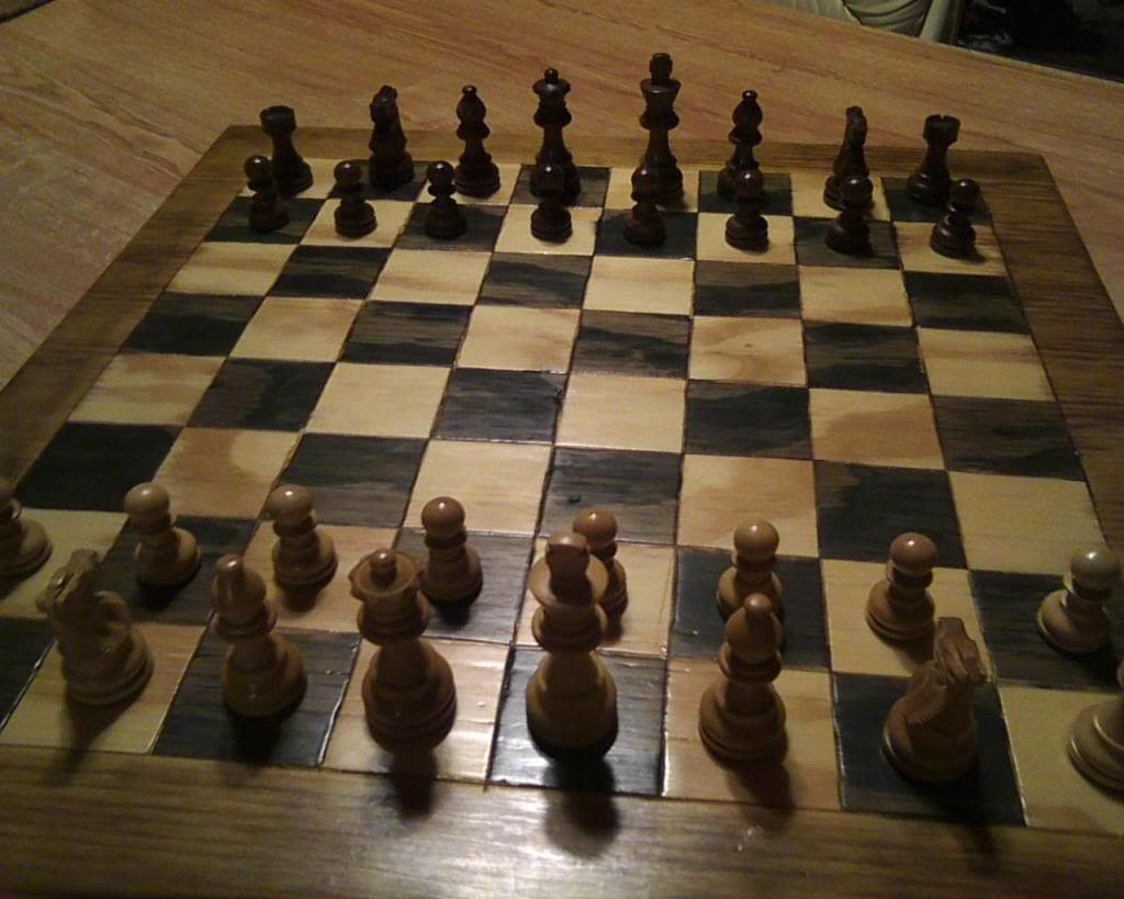 Homemade chess board - Inexpensive chess sets ...