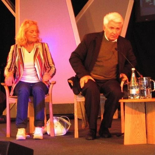 Spassky at Hay-on-Wye with his wife Marina