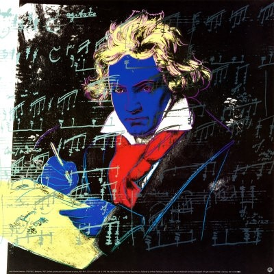 Beethoven, Yellow Book Art Print by Andy Warhol