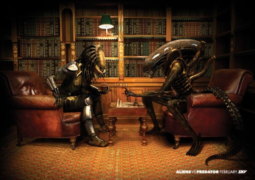 Aliens vs Predator Chess Game