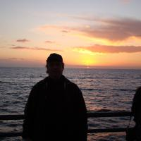 Sunset at the Pacific Ocean!