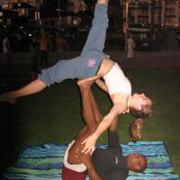 ACRO ON OLD MUSCLE BEACH