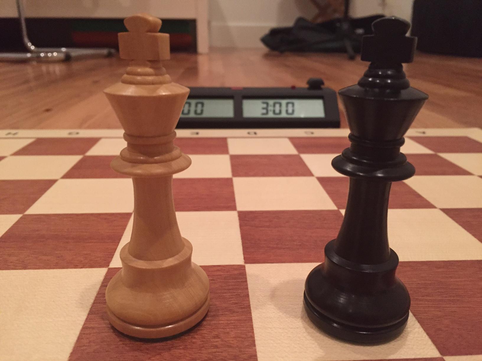 My New Tournament Chess Set Wood