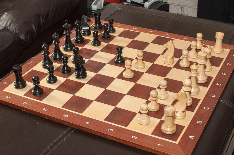 Looking for a durable wood set - Chess board display case ...