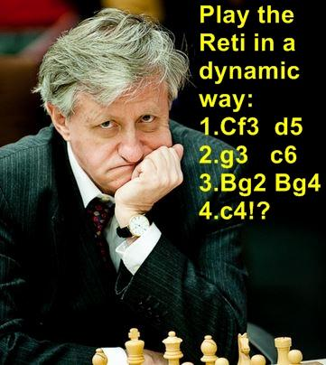 "Play ""The Reti"" in a dynamic way...."