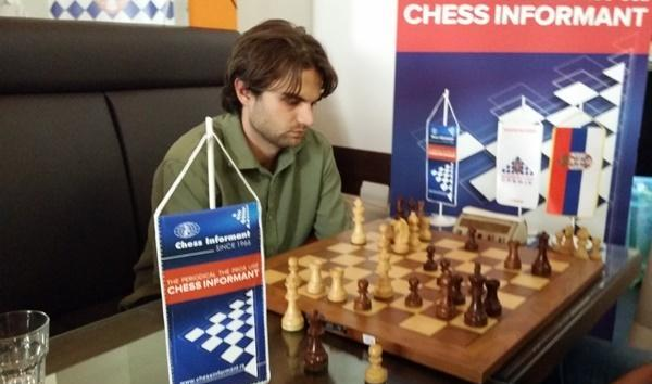Sam Shankland at the Chess Informant Rapid&Blitz in Belgrade