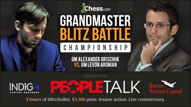 Aronian-Grischuk Blitz Battle Opener April 6: Once More We Play Our Dangerous Game