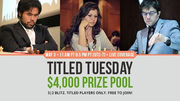 Special Titled Tuesday Offers $4,000 In Prizes