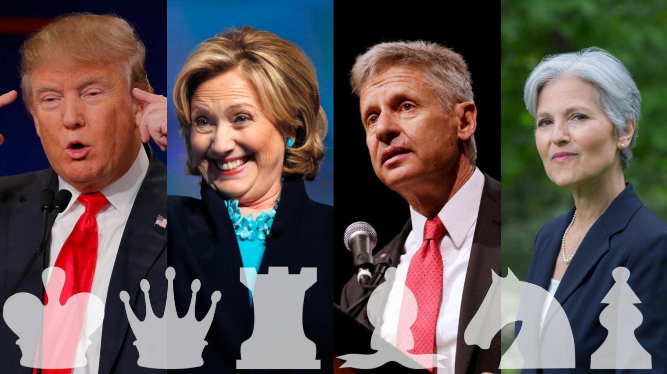 Chess.com Interviews Trump, Clinton, Johnson, Stein