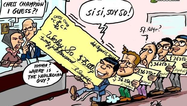 Check The Chess Cheque