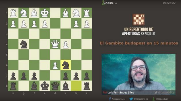 El Gambito Budapest | Aperturas de ajedrez en 15 min