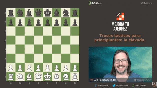Trucos tácticos de ajedrez para principiantes: la clavada