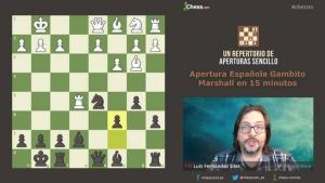 El Gambito Marshall de la Apertura Española en 15 min