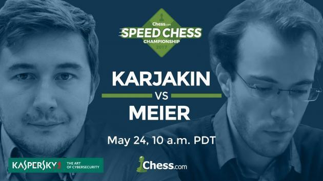 Como Ver Hoje Karjakin vs Meier: Speed Chess Champs