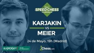 Cómo ver el match entre Karjakin y Meier del Speed Chess