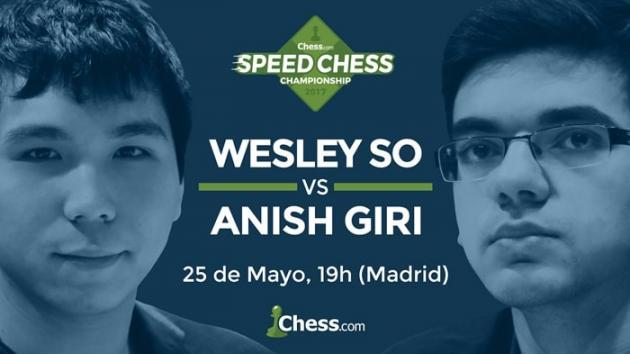 Cómo ver el match So vs Giri del Speed Chess