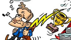 Miniatura de Levon Aronian, el ladrón del trueno