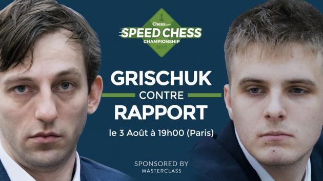 Comment suivre le match Grischuk-Rapport du Speed Chess ce soir?