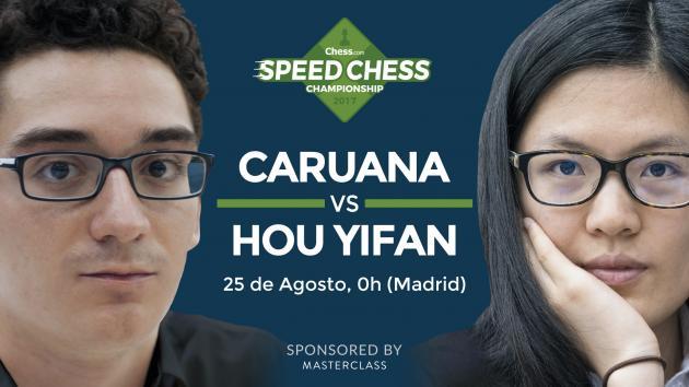 Speed Chess - Cómo ver el match entre Caruana y Hou Yifan