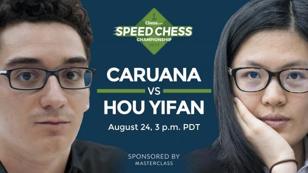 Como Acompanhar Hoje Caruana vs Hou Yifan do Speed Chess Champs