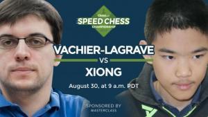 So könnt Ihr das Achtelfinale der Speedchess Meisterschaft Vachier-Lagrave gegen Xiong ansehen