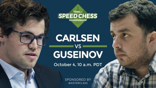 So könnt Ihr das Achtelfinale der Speedchess Meisterschaft Carlsen gegen Guseinov ansehen