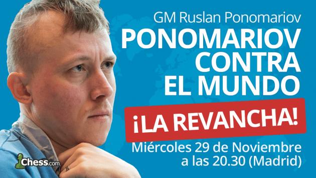 """¿Cómo participar en el reto """"Ponomariov contra el mundo""""?"""