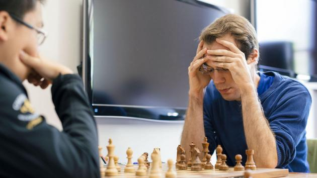 Die entscheidende Partie der 'Fall Chess Classic' St.Louis
