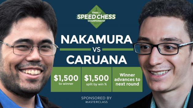 So könnt Ihr das Viertelfinale der Speedchess Meisterschaft Nakamura gegen Caruana heute ansehen
