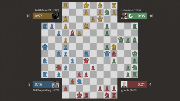 4 Spieler Schach: Wir man es spielt - und gewinnt