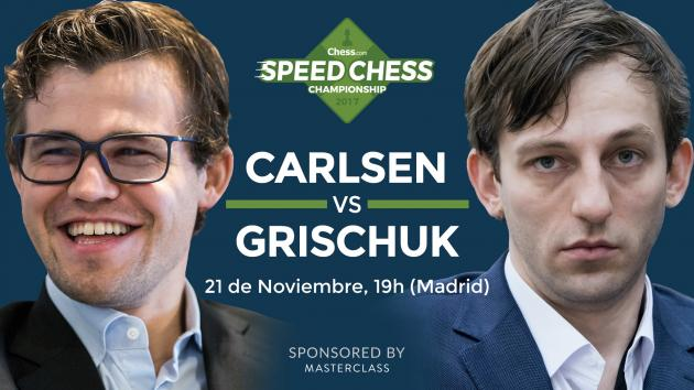 Previa del match entre Carlsen y Grischuk del Speed Chess