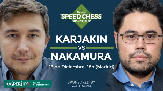 Previa del match entre Karjakin y Nakamura del Speed Chess