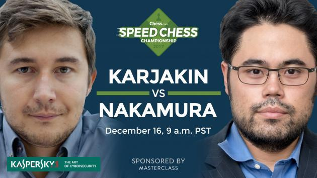 Como Acompanhar Karjakin vs Nakamura no Sábado: Speed Chess Champs