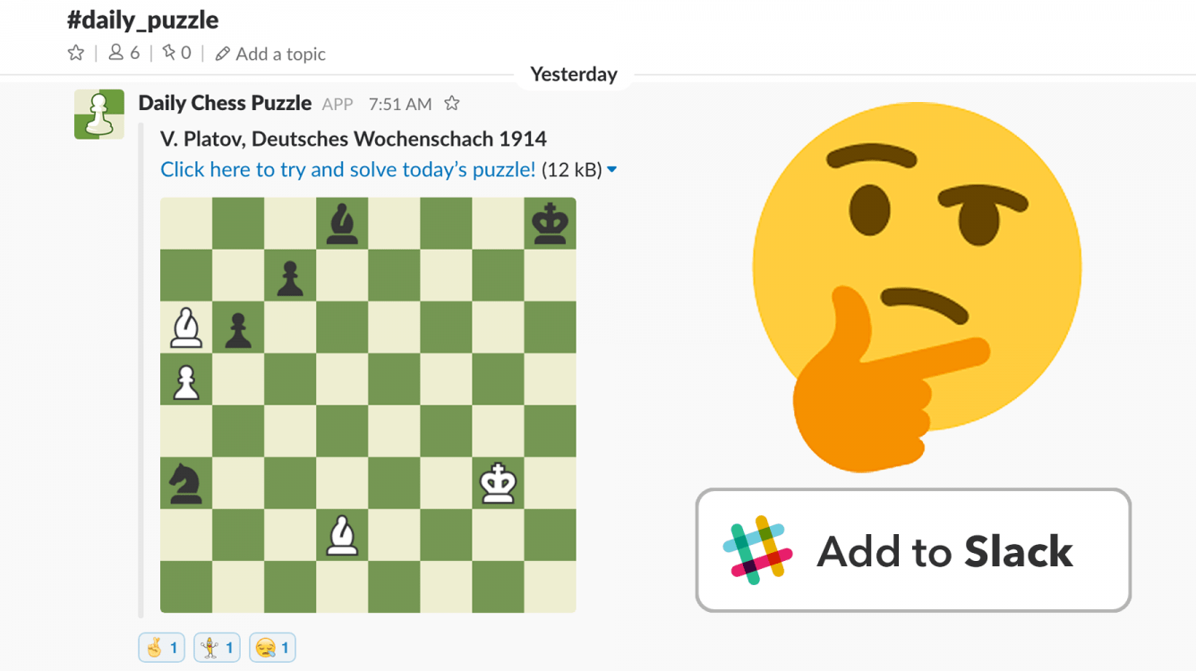 Daily Chess Puzzle App for Slack
