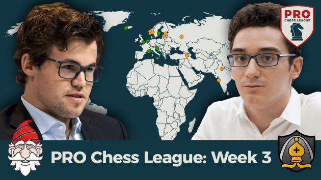 Carlsen, Caruana Headline PRO Chess Week 3