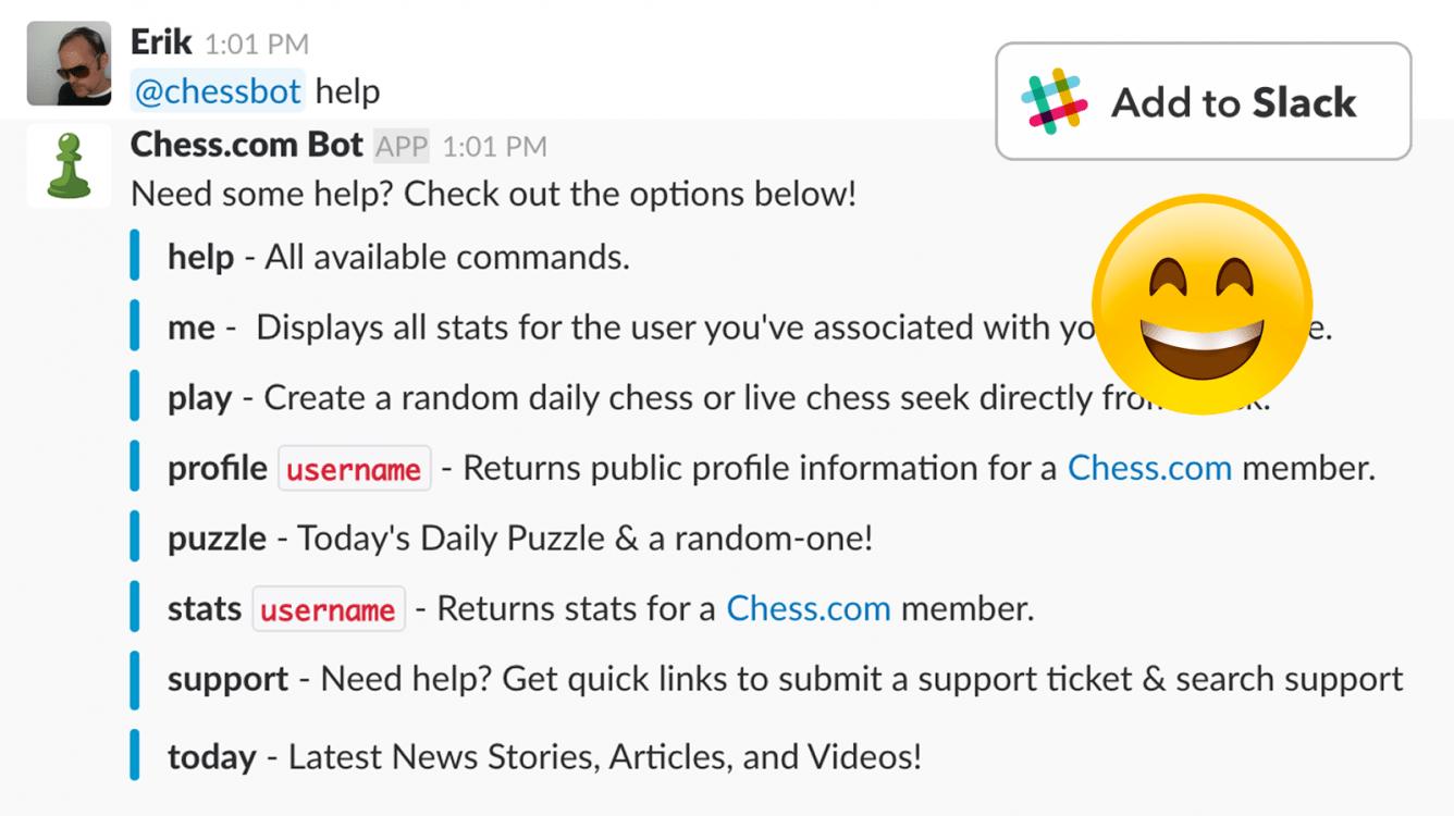@chessbot - The Chess.com Bot for Slack