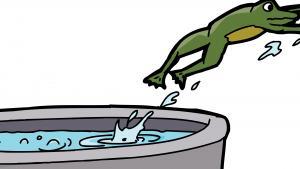 Как играть атаку вареной лягушки