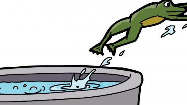 L'attaque de la grenouille cuite