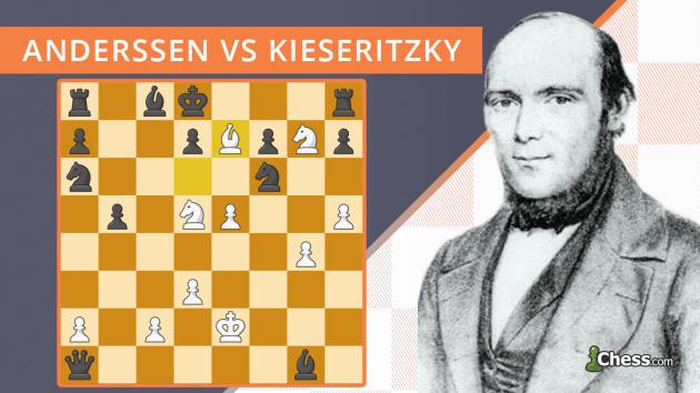 A Partida Imortal | Anderssen vs Kieseritzky (1851)