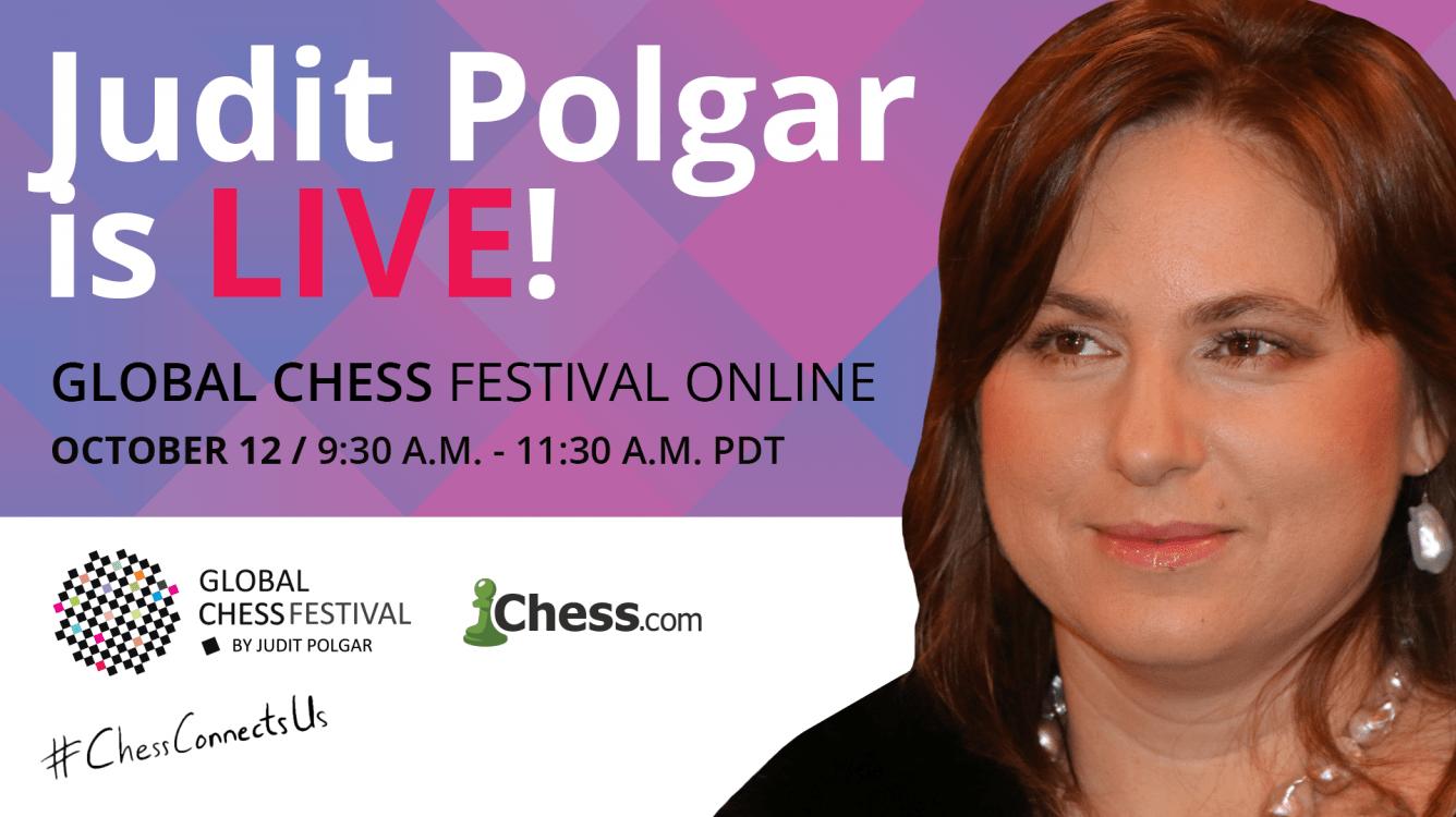 Play Judit Polgar In The Global Chess Festival Online!