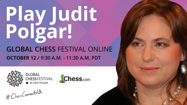 Jouez contre Judit Polgar à l'occasion du Global Chess Festival !