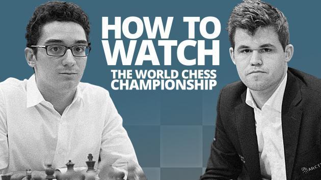 So könnt ihr die Weltmeisterschaft zwischen Carlsen und Caruana live ansehen